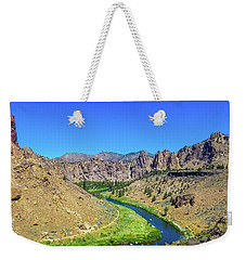 A River Runs Through Weekender Tote Bag