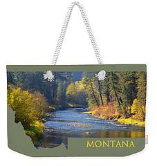 A River Runs Thru Autumn Weekender Tote Bag