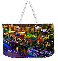 A San Antonio River Walk Christmas Weekender Tote Bag