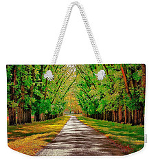 A Road Through Autumn Weekender Tote Bag