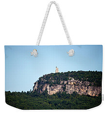 Weekender Tote Bag featuring the photograph A Rock With A View by Jeff Severson