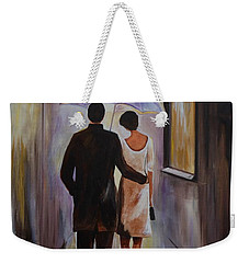 A Romantic Stroll Weekender Tote Bag by Leslie Allen