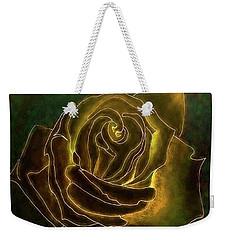 A Rose In Gold Weekender Tote Bag