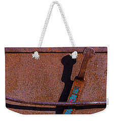 Weekender Tote Bag featuring the photograph A Rusted Development II by Paul Wear