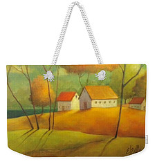 Weekender Tote Bag featuring the painting A Safe Haven by Eleatta Diver