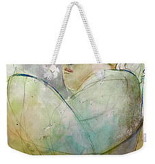 Weekender Tote Bag featuring the painting A Safe Place by Eleatta Diver