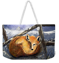 Weekender Tote Bag featuring the painting A Safe Place To Sleep by Carol Grimes