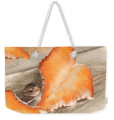 Weekender Tote Bag featuring the painting A Safe Place by Veronica Minozzi