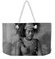 Weekender Tote Bag featuring the painting A Samoan High Chief by Artistic Panda