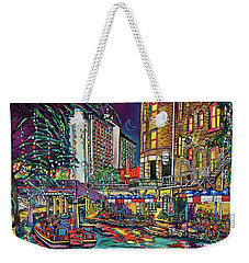 Weekender Tote Bag featuring the painting A San Antonio Christmas by Patti Schermerhorn