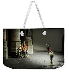 Weekender Tote Bag featuring the photograph A Scene In Oude Kerk Amsterdam by RicardMN Photography