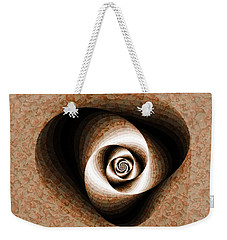 Weekender Tote Bag featuring the digital art a Sculpt Rose by Richard Ortolano