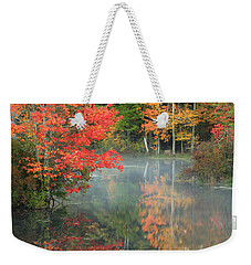 A Seat To Watch Autumn Weekender Tote Bag