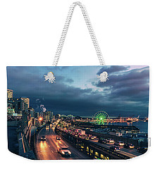 A Seattle Evening Weekender Tote Bag