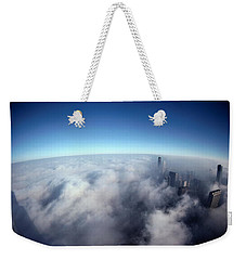 A Shadow Of The Sears Tower Slants Weekender Tote Bag