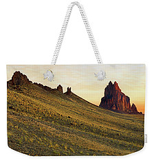 Weekender Tote Bag featuring the photograph A Shiprock Sunrise - New Mexico - Landscape by Jason Politte