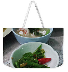 Weekender Tote Bag featuring the photograph A Side Of Tom Yum Goon With Your by Mr Photojimsf