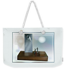 Weekender Tote Bag featuring the sculpture A  Silver  Sculpture by Hartmut Jager