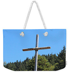 Weekender Tote Bag featuring the photograph A Simple Cross by Marie Neder