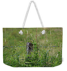 Weekender Tote Bag featuring the photograph A Simple Post by Rick Morgan