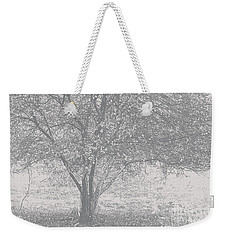 A Single Tree In Autumn In Grey And White Weekender Tote Bag