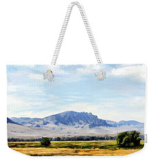 Weekender Tote Bag featuring the painting A Sleeping Giant by Susan Kinney