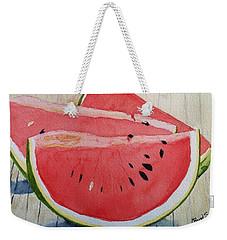 A Slice Weekender Tote Bag by Rand Swift