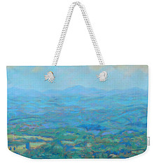 A Slow Summer's Day- View From Roanoke Mountain Weekender Tote Bag by Bonnie Mason