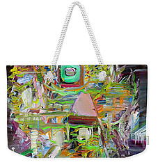 Weekender Tote Bag featuring the painting A Small Portion Of Herself by Fabrizio Cassetta