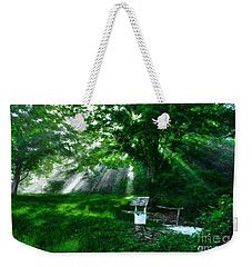 Weekender Tote Bag featuring the photograph A Small Wish 3 by Mel Steinhauer