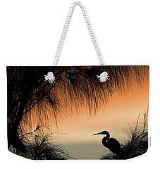 A Snowy Egret (egretta Thula) Settling Weekender Tote Bag