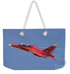 A Special Painted Yak-130 Performing Weekender Tote Bag by Daniele Faccioli