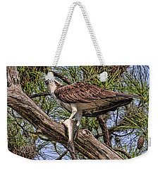 Weekender Tote Bag featuring the photograph A Speckled Trout Breakfast by HH Photography of Florida