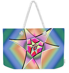 Weekender Tote Bag featuring the digital art A Splash Of Color 1 by Chuck Staley