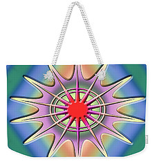 Weekender Tote Bag featuring the digital art A Splash Of Color 2 by Chuck Staley