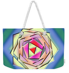 Weekender Tote Bag featuring the digital art A Splash Of Color 3 by Chuck Staley
