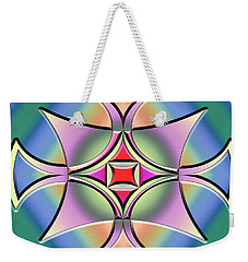 Weekender Tote Bag featuring the digital art A Splash Of Color 4 by Chuck Staley