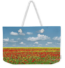 Weekender Tote Bag featuring the photograph A Splatter Of Red by Tim Gainey