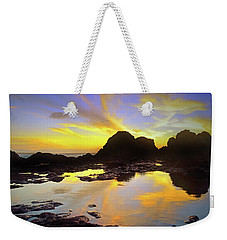 Weekender Tote Bag featuring the photograph A Splatter Paint Sunset by Tara Turner