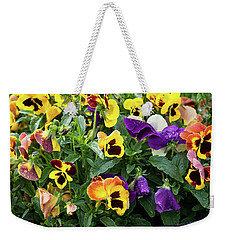 A Spread Of Pansies Weekender Tote Bag
