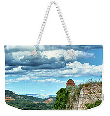 Weekender Tote Bag featuring the photograph A Spring Day At The Roman Walls Of Tarragona by Eduardo Jose Accorinti