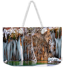 A Spring That Knows No Summer. - Hanging Lake Print Weekender Tote Bag