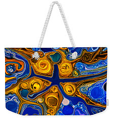 Weekender Tote Bag featuring the painting A Star Is Born by Omaste Witkowski