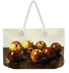 A Still Life Of Apples Weekender Tote Bag by Lesser Ury