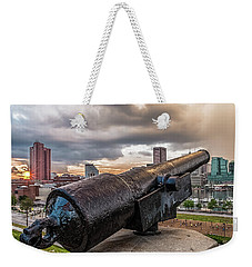A Storm Approaching Baltimore Weekender Tote Bag