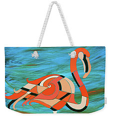 A Straight Up Flamingo Weekender Tote Bag