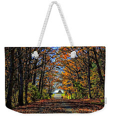 A Stroll Through Autumn Colors Weekender Tote Bag