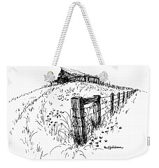 A Strong Fence And Weak Barn Weekender Tote Bag