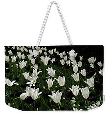 A Study In Black And White Tulips Weekender Tote Bag