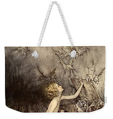 A Sudden Swarm Of Winged Creatures Brushed Past Her Weekender Tote Bag